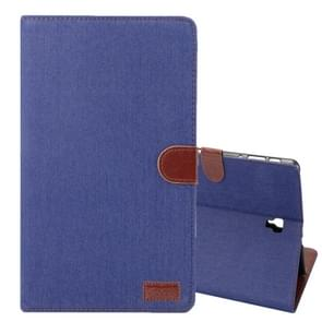 Dibase Denim Texture Horizontal Flip PU Leather Case for Galaxy Tab S4 10.5 / T830, with Holder & Card Slot (Dark Blue)