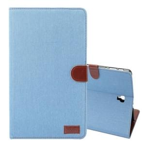 Dibase Denim Texture Horizontal Flip PU Leather Case for Galaxy Tab S4 10.5 / T830, with Holder & Card Slot (Blue)