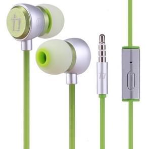 ALEXPRO E200i 1.2 m in-ear stereo bedrade Control koptelefoon met mic  voor iPhone  iPad  Galaxy  Huawei  Xiaomi  LG  HTC en andere smartphones (groen)