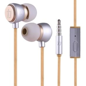 ALEXPRO E200i 1 2 m In-Ear Stereo Wired controle koptelefoon met microfoon  voor iPhone  iPad  Galaxy  Huawei  Xiaomi  LG  HTC en andere Smartphones(Gold)