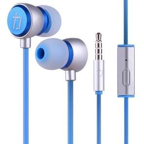 ALEXPRO E200i 1.2 m in-ear stereo bedrade Control koptelefoon met mic  voor iPhone  iPad  Galaxy  Huawei  Xiaomi  LG  HTC en andere smartphones (blauw)
