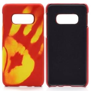 Paste Skin + PC Thermal Sensor Discoloration Case for Galaxy S10+(Orange)