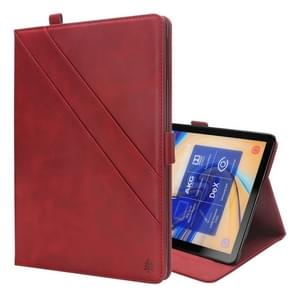 Horizontal Flip Double Holder Leather Case for Galaxy Tab S4 10.5 T830 / T835, with Card Slots & Photo Frame & Pen Slot(Red)