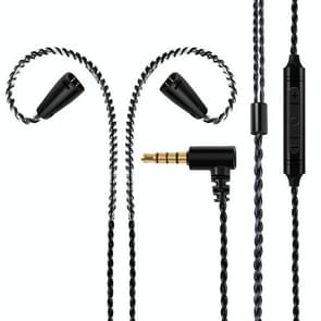 IE80 Plug Silver-plated Headphone Wire with Mic (Black)