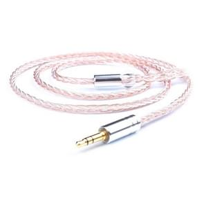 3.5 Stereo + IE80 Direct Plug DIY 8 Core Mixing Color Silver-plated Headphone Wire, Length : 1.2m