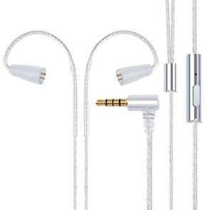 IE80 Plug Silver-plated Headphone Wire with Mic (Silver)