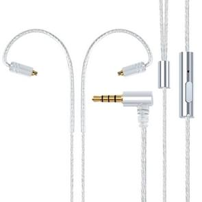 MMCX Plug Silver-plated Headphone Wire with Mic (Silver)