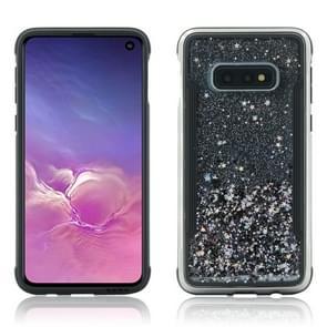 Carbon gold glitter poeder schokbestendige beschermhoes voor Galaxy S10 Lite (zwart)