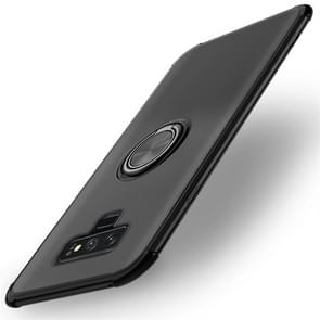 Shockproof TPU Protective Case for Galaxy Note 9, with Holder (Black)