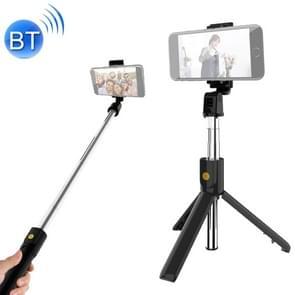 K10 Bluetooth 4 0 mobiele telefoon verstelbare Bluetooth Selfie stick Self-timer Pole statief (zwart)