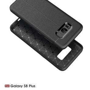For Galaxy S8 + / G955 Litchi Texture TPU Protective Back Cover Case (Black)
