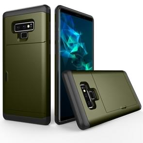 Shockproof Rugged Armor Protective Case for Galaxy Note 9, with Card Slot(Army Green)