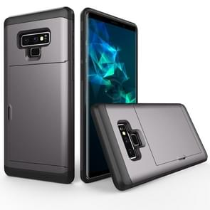 Shockproof Rugged Armor Protective Case for Galaxy Note 9, with Card Slot(Grey)