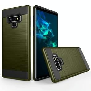 Brushed Texture Shockproof Rugged Armor Protective Case for Galaxy Note 9(Army Green)