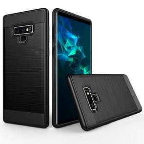 Brushed Texture Shockproof Rugged Armor Protective Case for Galaxy Note 9(Black)