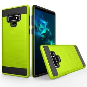 Brushed Texture Shockproof Rugged Armor Protective Case for Galaxy Note 9(Green)