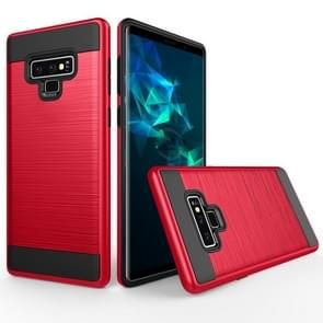 Brushed Texture Shockproof Rugged Armor Protective Case for Galaxy Note 9(Red)