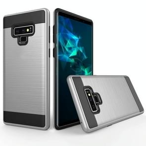 Brushed Texture Shockproof Rugged Armor Protective Case for Galaxy Note 9(Silver)