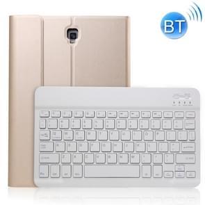 A830 Ultradunne afneembare Bluetooth-toetsenbord lederen hoes voor Galaxy Tab S4 10.5 T830 / T835  met Houder (Goud)