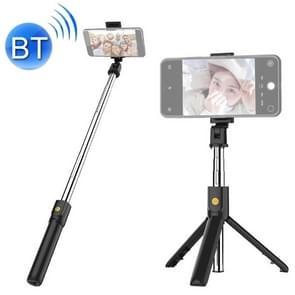 K07 Bluetooth 4 0 mobiele telefoon verstelbare Bluetooth Selfie stick zelfontspanner Pole statief (zwart)