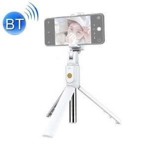 K07 Bluetooth 4.0 Mobile Phone Adjustable Bluetooth Selfie Stick Self-timer Pole Tripod (White)