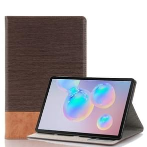For Galaxy Tab S6 T860 / T865 Cross Texture Horizontal Flip Leather Case with Holder & Card Slots & Wallet (Coffee)
