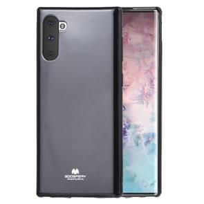MERCURY GOOSPERY JELLY TPU schokbestendig en kras geval voor Galaxy Note 10 (zwart)
