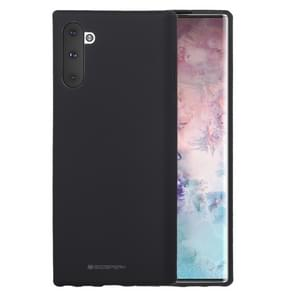 MERCURY GOOSPERY SF JELLY TPU schokbestendig en kras geval voor Galaxy Note 10 (zwart)