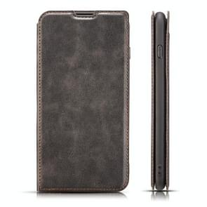 Retro Simple Ultra-thin Magnetic Horizontal Flip Leather Case for Galaxy S10 E, with Holder & Card Slots & Lanyard (Black)