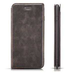 Retro Simple Ultra-thin Magnetic Horizontal Flip Leather Case for Galaxy Note 9, with Holder & Card Slots & Lanyard (Black)