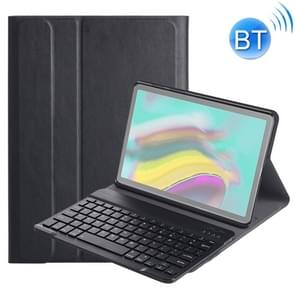 DY720 voor Galaxy tab S5e T720/T725 afneembare kunststof Bluetooth toetsenbord lederen draagtas met houder (zwart)