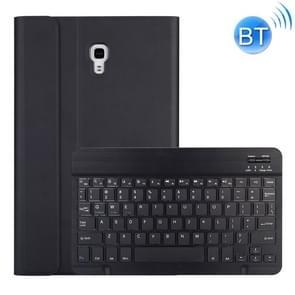 DY590 voor Galaxy tab A 10 5 T590/T595 afneembare kunststof Bluetooth toetsenbord lederen draagtas met houder (zwart)