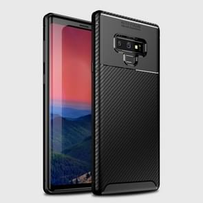 Beetle Shape Carbon Fiber Texture Shockproof TPU Case for Galaxy Note9(Black)