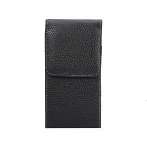 Voor Samsung Galaxy S7 Edge / G935 Litchi structuur taille tas met terug Clip(zwart)