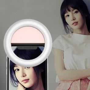 RK31 Beauty Selfie Light Selfie Clip Flash Fill Light (Pink)