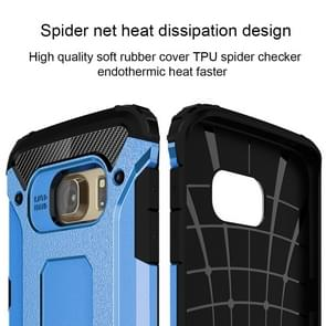 For Galaxy S6 Edge / G925 Tough Armor TPU + PC Combination Case (Blue)