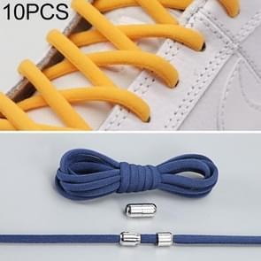 10 paar elastische metalen gesp zonder koppelveters (donkerblauw)