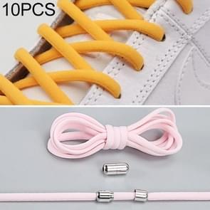 10 pairs elastische elastische metalen gesp zonder koppelveters (roze)