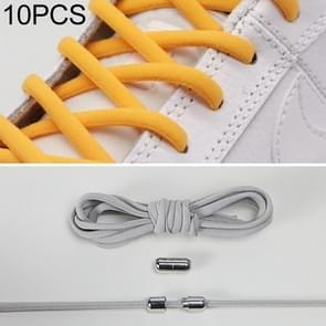 10 paar elastische metalen gesp zonder koppelveters (grijs)