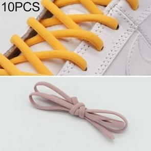 10 pairs elastische elastische metalen gesp zonder koppelveters (lichtroze)
