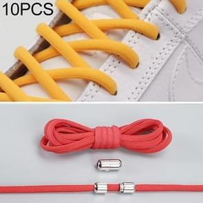 10 paar elastische metalen gesp zonder koppelveters (rood)