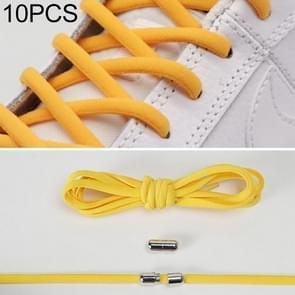 10 paar elastische metalen gesp zonder koppelveters (geel)