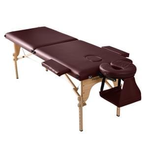 [JPN-magazijn] WF189182EAA Zeventraps in hoogte verstelbaar opvouwbaar therapeutisch massagebed met armleuningen en hoofdsteun  grootte: 186 x 72 5 cm  hoogtebereik: 42-61cm(Rood)
