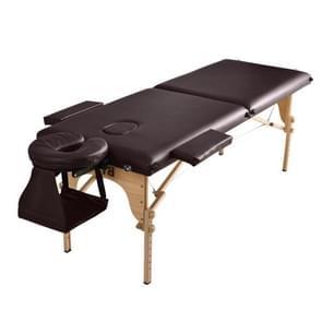 [JPN-magazijn] Zeventraps in hoogte verstelbaar opvouwbaar therapeutisch massagebed met armleuningen en hoofdsteun  grootte: 186 x 72 5 cm  hoogtebereik: 42-61cm(Bruin)