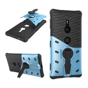 Compact PC + TPU Dropproof Sniper Hybrid Protective Back Case with 360 Degree Rotation Holder  for Sony Xperia XZ2(Blue)
