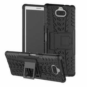 Tire Texture TPU+PC Shockproof Case for Sony Xperia XA3, with Holder (Black)