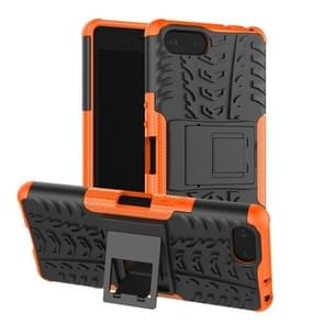 Tire Texture TPU+PC Shockproof Case for Sony Xperia XZ4 Compact, with Holder (Orange)