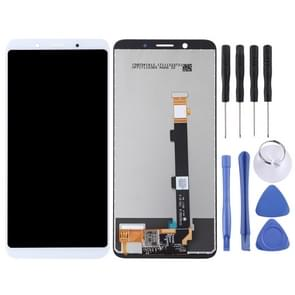 LCD Screen and Digitizer Full Assembly for OPPO A73(White)