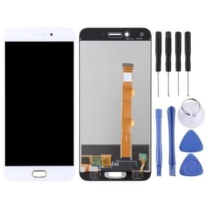 LCD-scherm en digitizer volledige montage voor OPPO A77 (wit)
