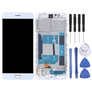 TFT Materials LCD Screen and Digitizer Full Assembly with Frame for OPPO R11(White)